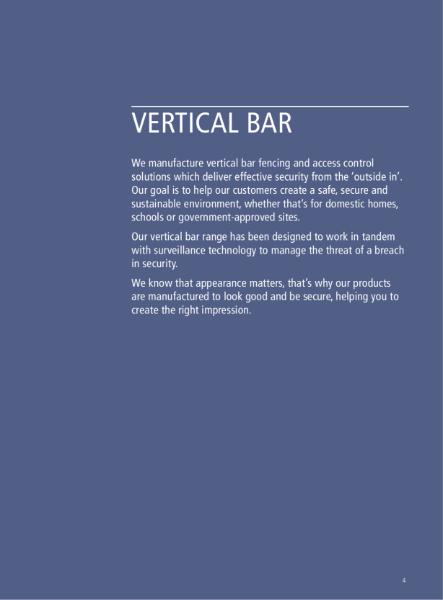 Vertical Bar Fencing
