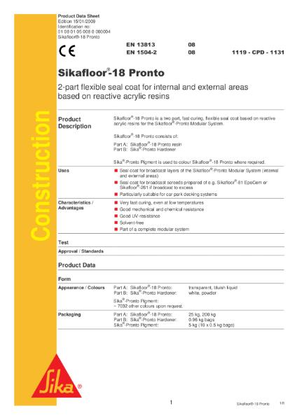 Sikafloor 18 Pronto