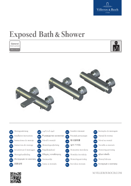 Exposed Bath and Shower Mixer Installation Manual