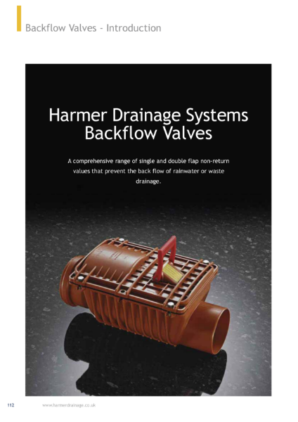 Harmer Backflow Valves