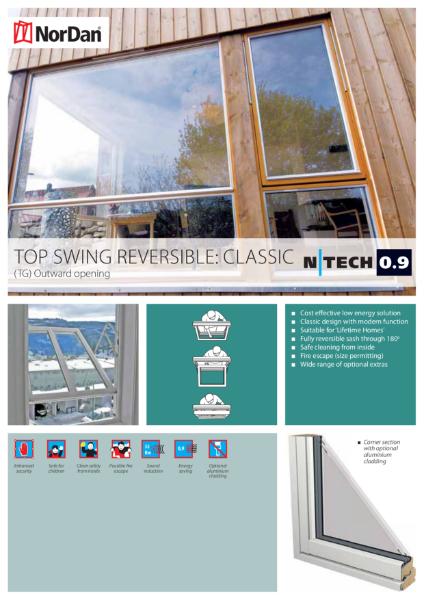 NorDan Top Swing Reversible Windows: Classic