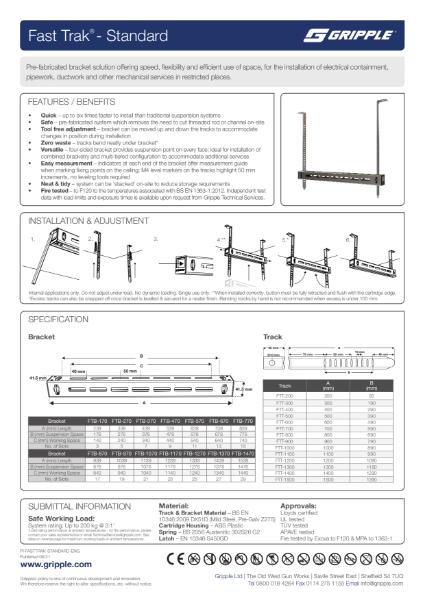 Fast Trak Standard PI Sheet