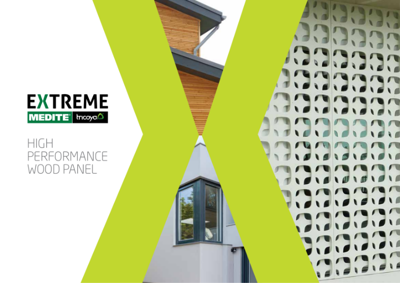 MEDITE TRICOYA EXTREME - MDF panel with up to 50 years guarantee.