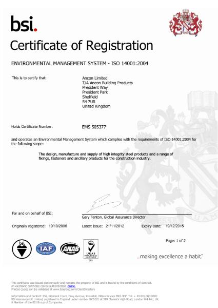 BSI ISO 14001:2004