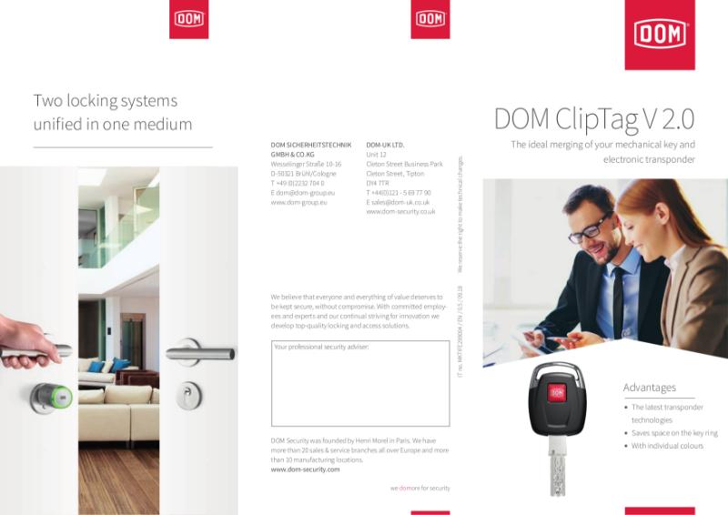 DOM Cliptag Mechatronic Locking system