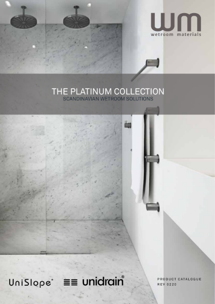 Wet room Formers, Wet room Drains and Waterproofing. All floor profiles.  WM Wetroom Materials - Platinum Collection