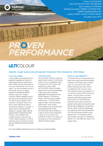 Ulticolour coloured asphalt leisure park case study