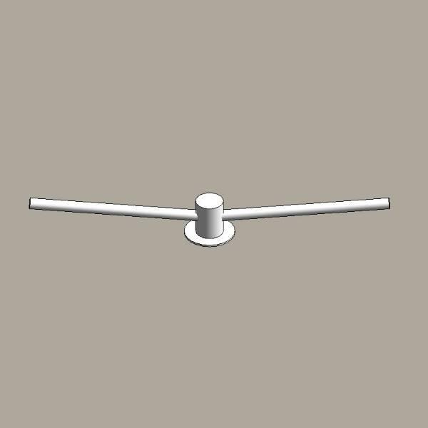 Aluminium column outreach brackets - twin arm