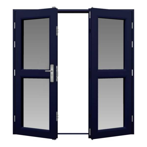 Glazed Steel Double Door (Security)