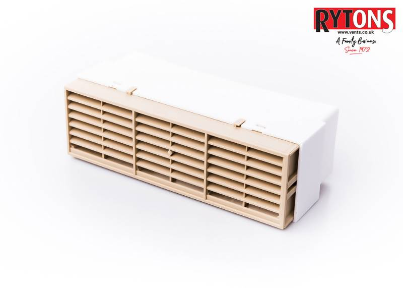 RD5MFAB - Rytons Multifix® Air Brick with Ducting Adaptor 204 x 60 mm