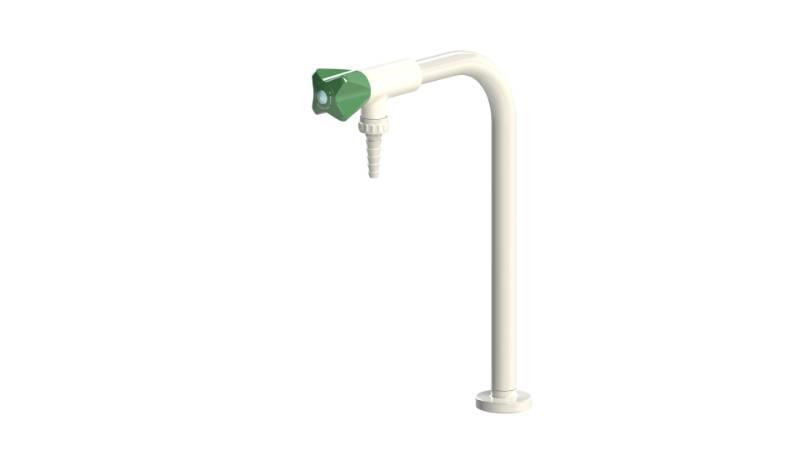 Table mounted laboratory singel pillar water bib tap