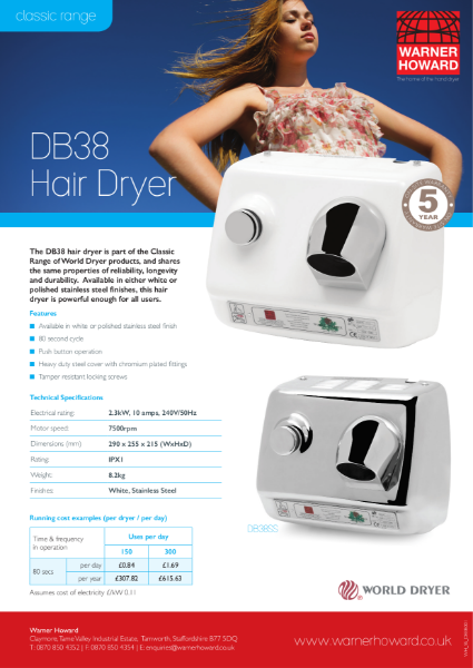 DB38 Hair Dryer