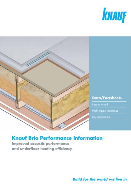 Knauf Brio Flooring Specification Sheets
