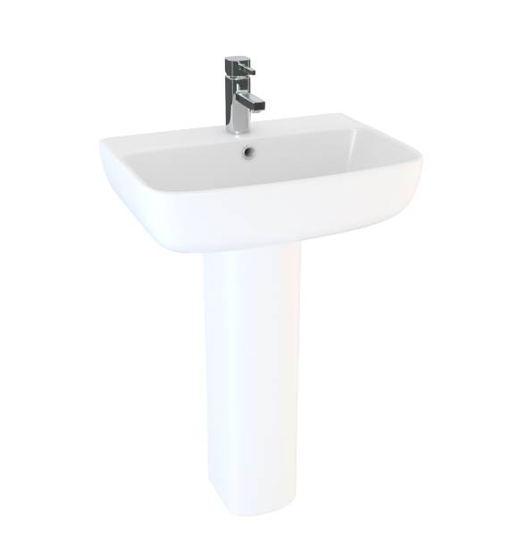 DS6 60 cm 1TH basin and pedestal