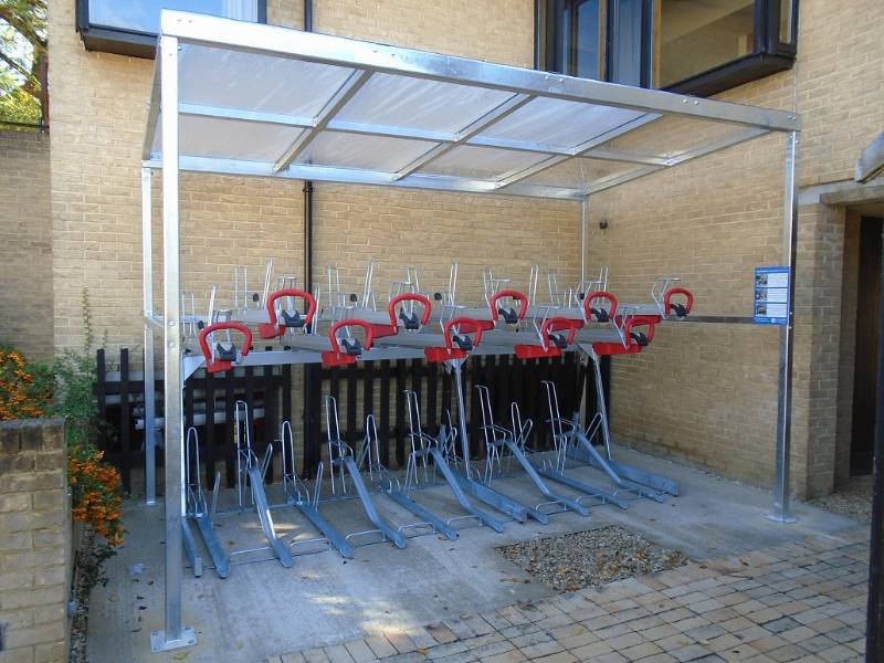 Cambridge Two-Tier Bike Shelter