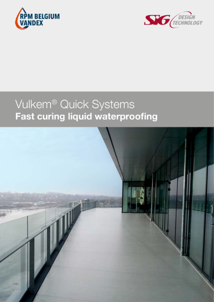 Vulkem Quick Systems Fast Curing Liquid Waterproofing