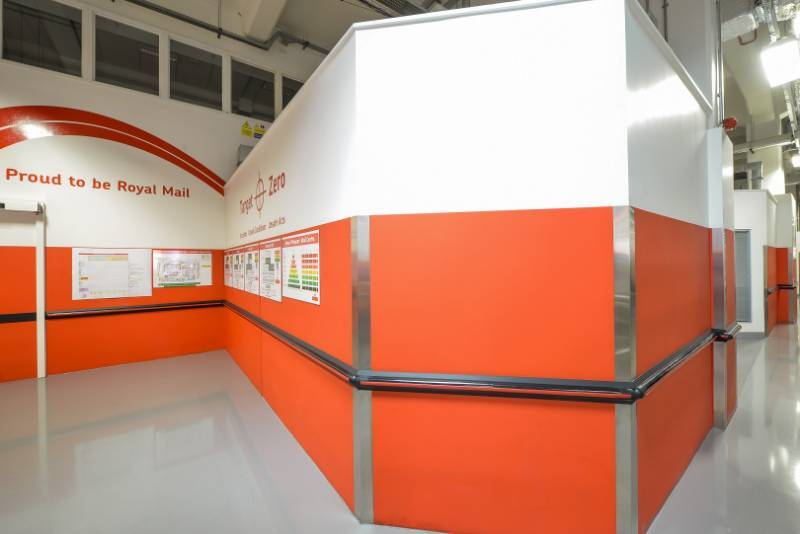 Royal Mail's Flagship Delivery Office at Mount Pleasant London turned to Yeoman Shield when looking for a way to protect their newly refurbished depot from damage caused by trolleys and trucks.