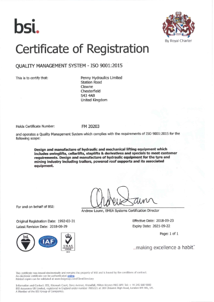 BSI 9001:2015 Quality Management Systems