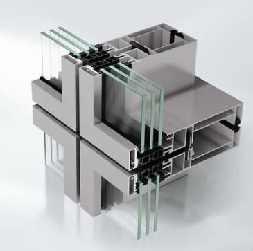 Aluminium Unitized façade - Curtain walling - AF UDC80
