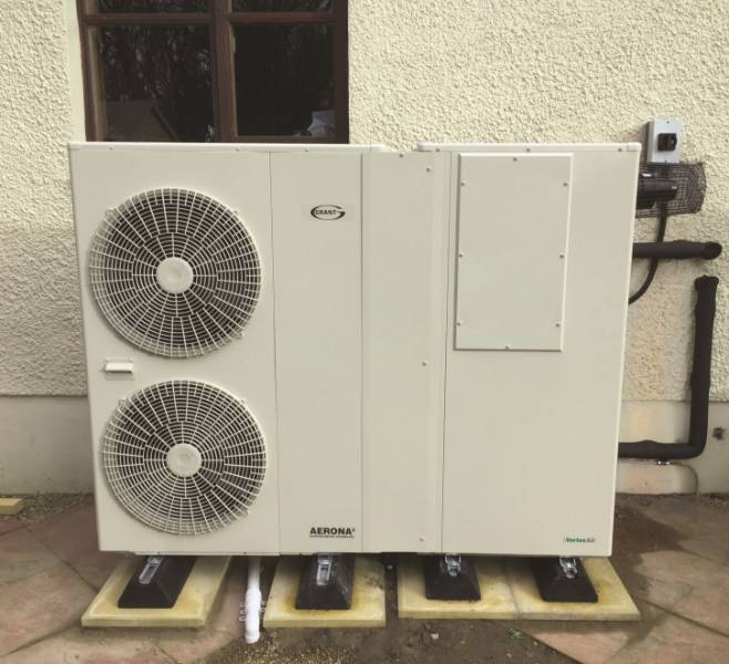 Ayrshire home joins the hybrid revolution with new Grant VortexAir oil/ air source heat pump Hybrid