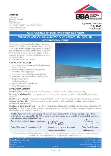 15/5261 Ecoline & Ecoflex FM PVC