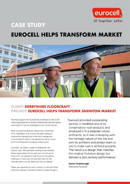Eurocell helps transform market into Creative Quarter