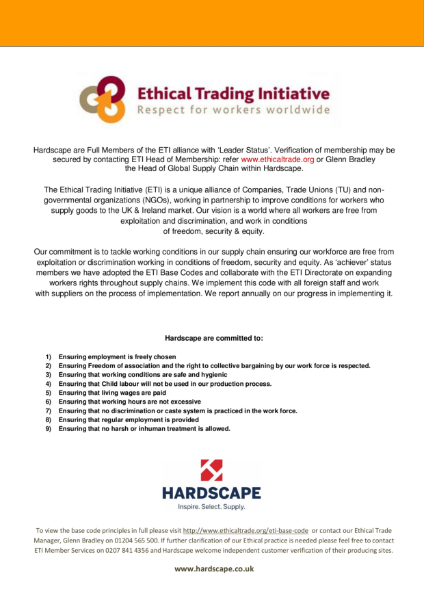 Ethical Trading Initiative Cert