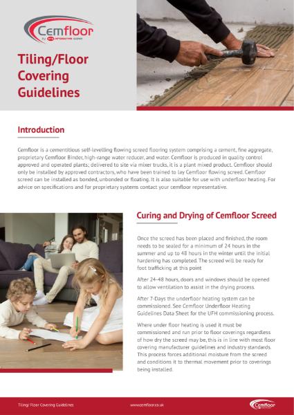Cemfloor Tiling- Floor Covering Guidelines