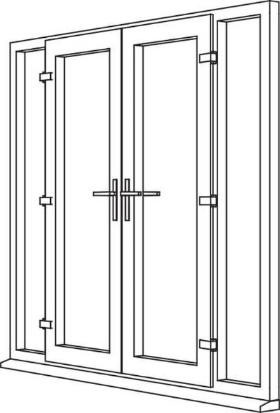 Zendow Neo French Door - F4 Open In