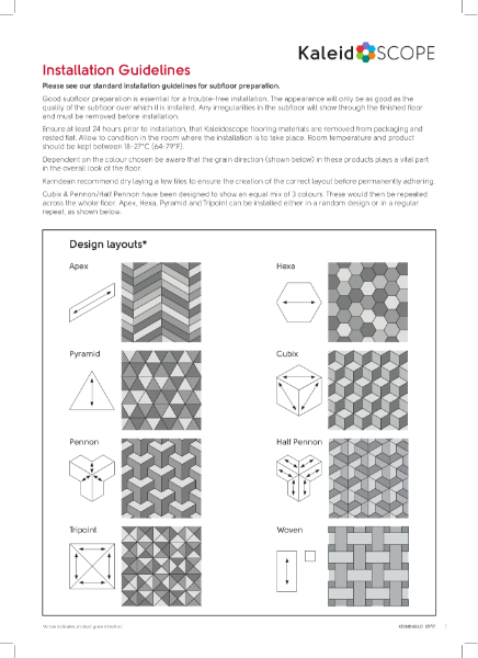 Kaleidoscope Installation Guidelines