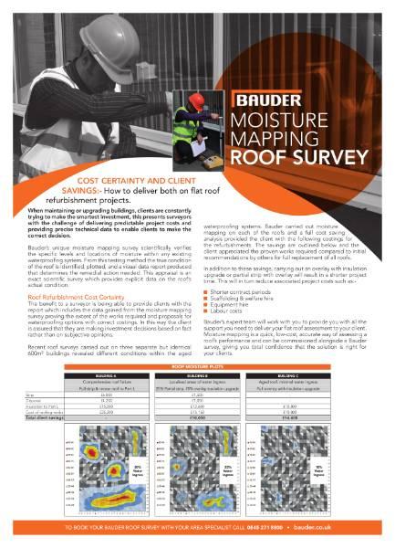 Bauder Flat Roof Technical Diagnostics