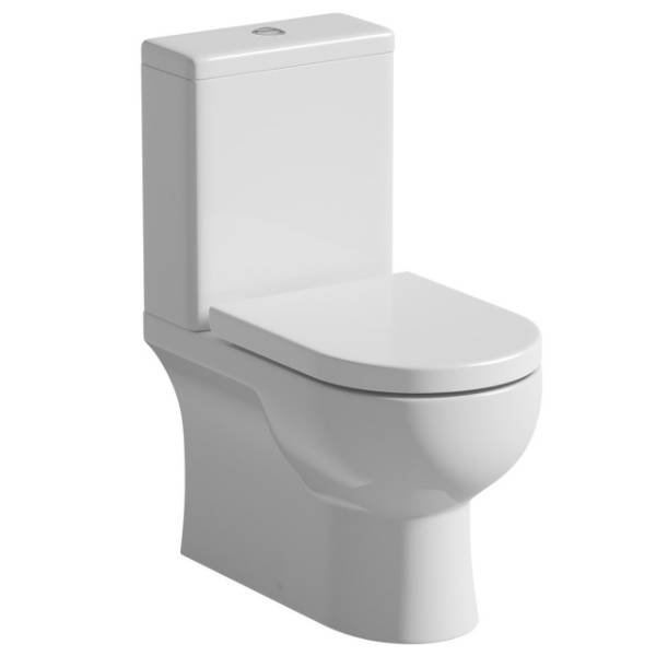 Angelo Close Coupled Pan, Cistern And Soft Close Seat