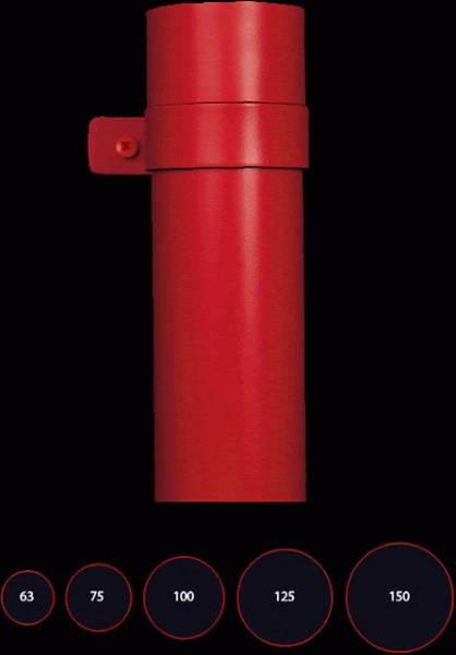 75 mm round downpipe