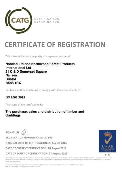Certificate of Registration ISO9001