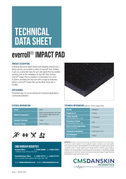 CMS Danskin Acoustics Everroll Impact Pad TDS