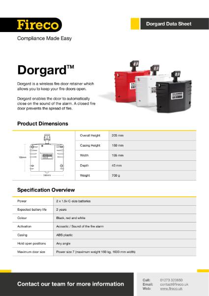 Dorgard Technical Data Sheet