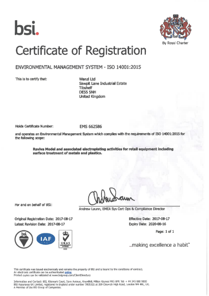 Wanzl - ISO 14001 Certificate