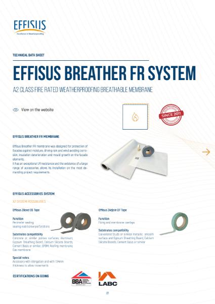 Effisus Breather FR System