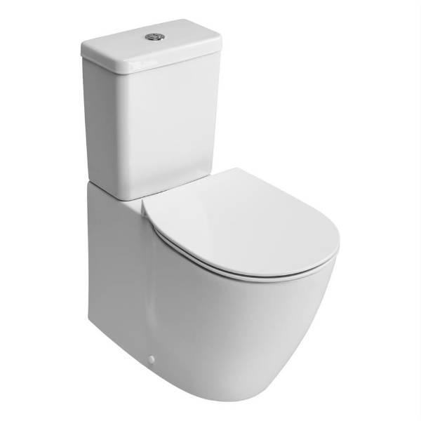 Santorini Bow Close Coupled Back To Wall WC Suite with Aquablade technology
