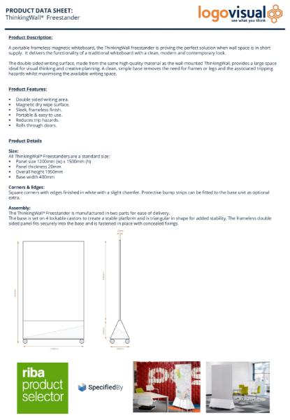 Freestander Mobile Whiteboard Data Sheet