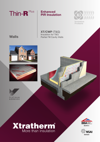 Insulation for Partial Fill Cavity Walls (XT/CWP)
