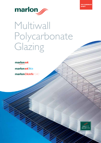 Multiwall Polycarbonate Glazing Material - Marlon ST Longlife