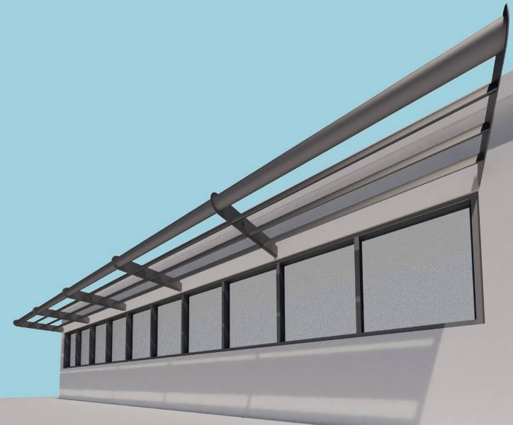 Shadex 260 Horizontal Solar Shading System with tube