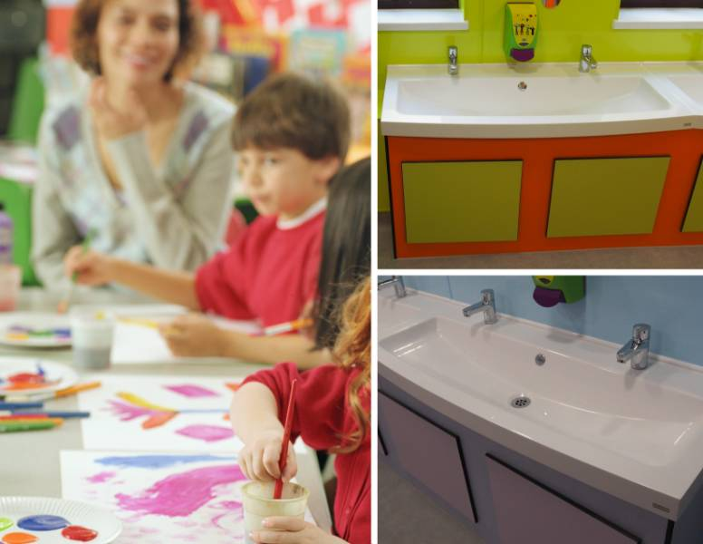 Bradwell Village School choose Franke solid surface troughs for revamp