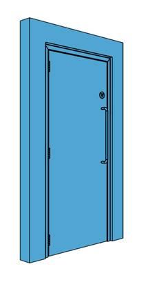 Single Metal Corridor/Lobby Door