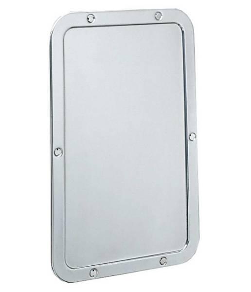 Vandal resistant frameless mirror B-942