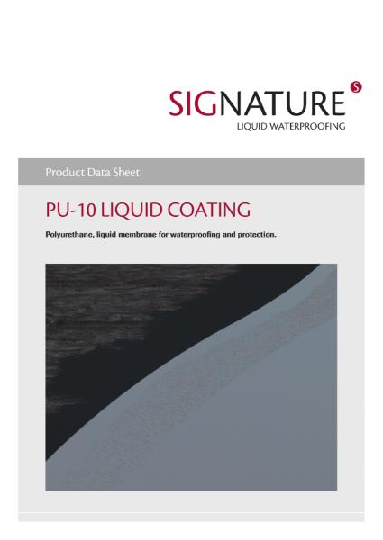 SIGnature PU10 Liquid Coating Datasheet