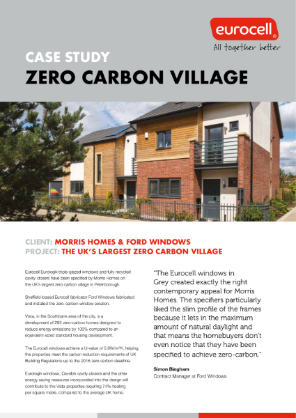 Cavity Closers used in the UKs largest zero carbon village