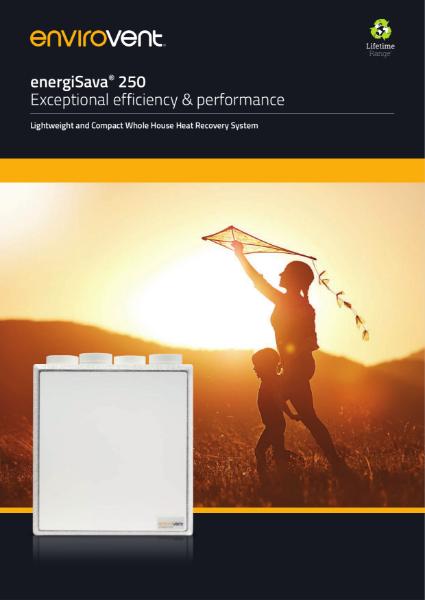 energiSava 250 Brochure (MVHR / Heat Recovery Ventilation System)