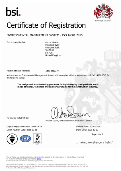 Environmental Management System - ISO 14001 2015